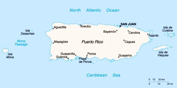 ¿Cuál es la extensión territorial de Puerto Rico?