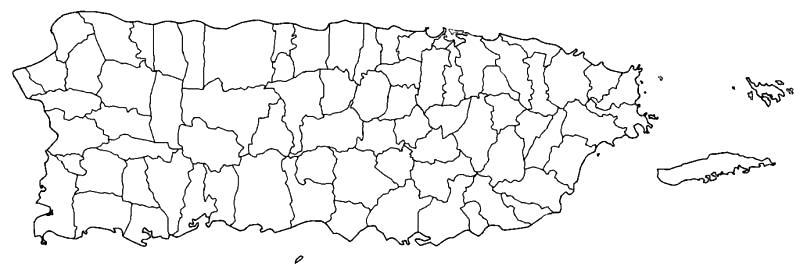 Mapa mudo de Puerto Rico